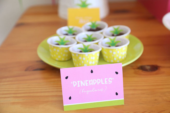 Pineapple Dessert Cups from a Two-tti Frutti Birthday Party on Kara's Party Ideas | KarasPartyIdeas.com (14)