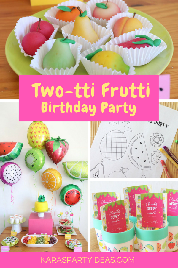 Karas Party Ideas Two Tti Frutti Birthday Party