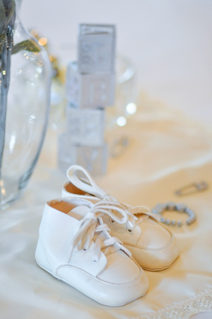 Vintage Baby Shoes Vintage Lavender and Silver Baby Shower for Kara's Party Ideas | Kara Allen-5