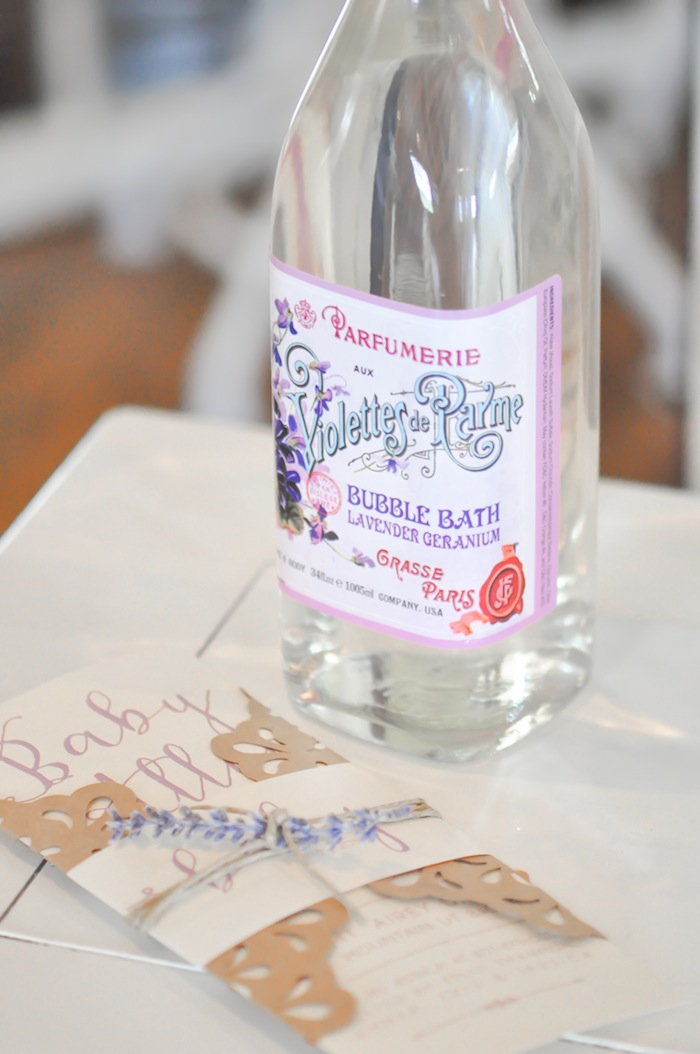 Lavender Bubble Bath Vintage Lavender and Silver Baby Shower for Kara's Party Ideas | Kara Allen-5