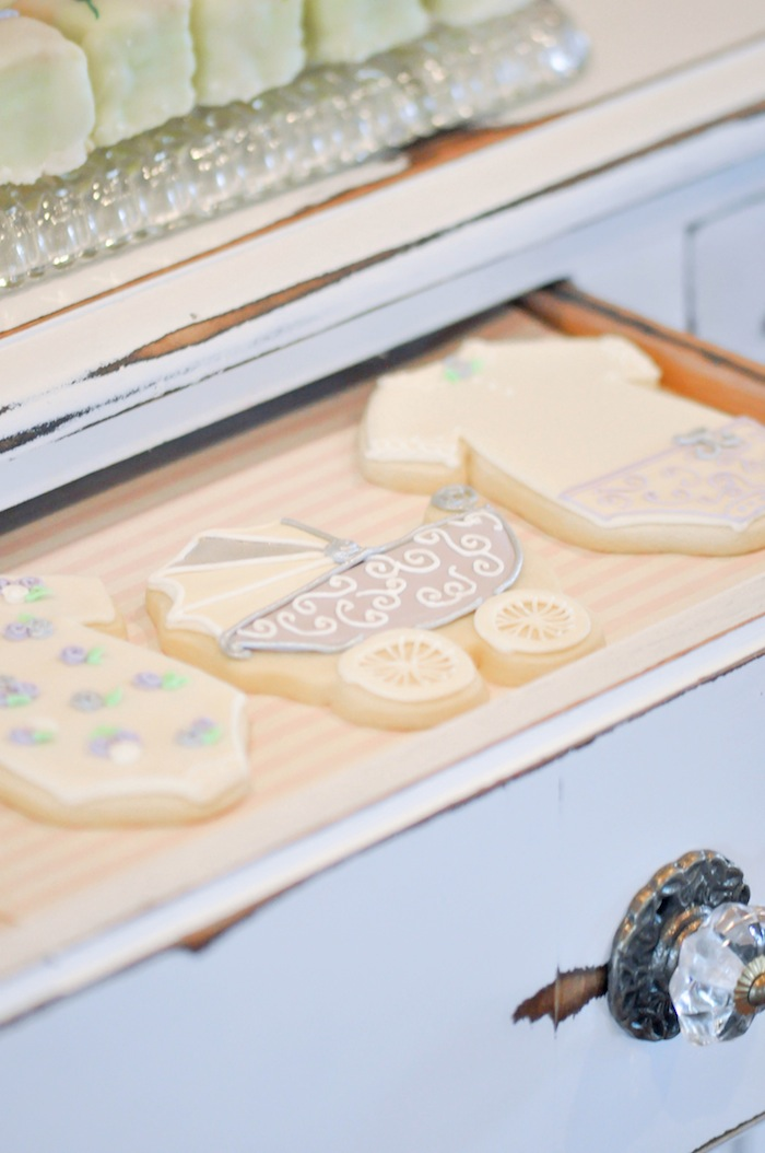 Carriage Cookies Vintage Lavender and Silver Baby Shower for Kara's Party Ideas | Kara Allen-5