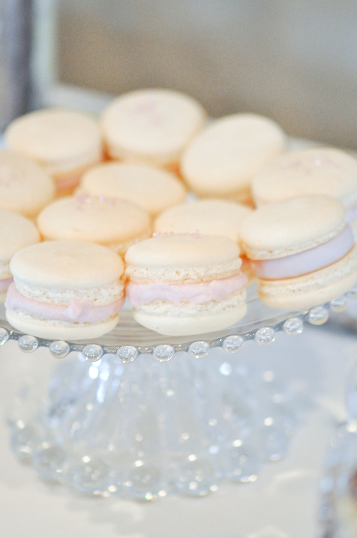 French Macarons Vintage Lavender and Silver Baby Shower for Kara's Party Ideas | Kara Allen-5