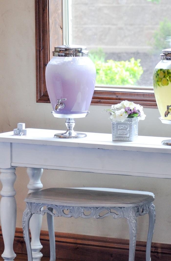 Lavender Drink at a Vintage Lavender and Silver Baby Shower for Kara's Party Ideas | Kara Allen-5