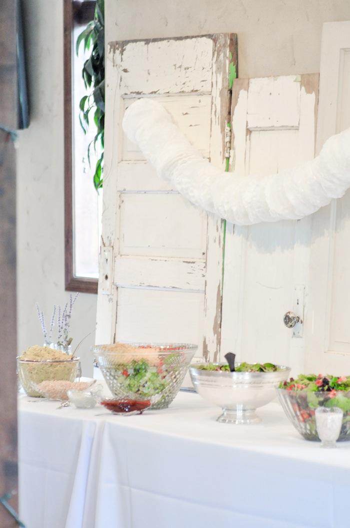 Vintage Doors at a Vintage Lavender and Silver Baby Shower for Kara's Party Ideas | Kara Allen-5