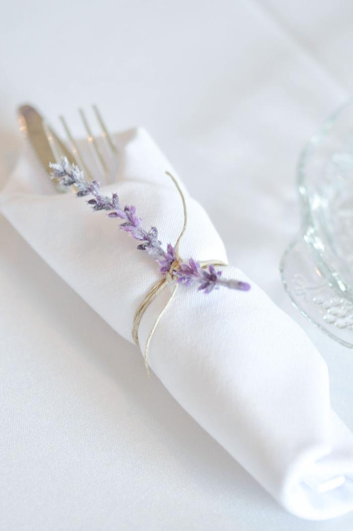 Lavender Napkin Ring Vintage Lavender and Silver Baby Shower for Kara's Party Ideas | Kara Allen-5