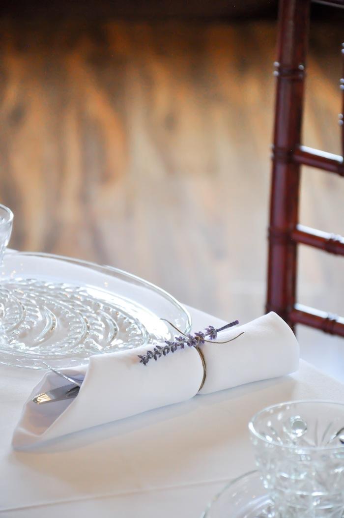 Napkin Ring Silverware Vintage Lavender and Silver Baby Shower for Kara's Party Ideas | Kara Allen-5