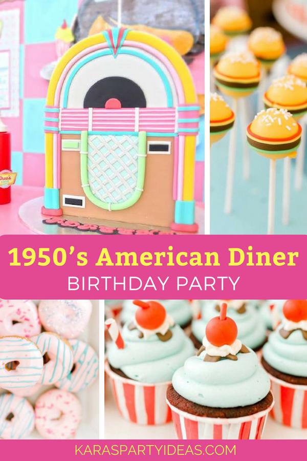 1950's American Diner Birthday Party via Kara_s Party Ideas - KarasPartyIdeas.com