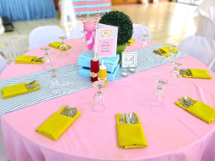 1950's American Diner Birthday Party on Kara's Party Ideas | KarasPartyIdeas.com (34)