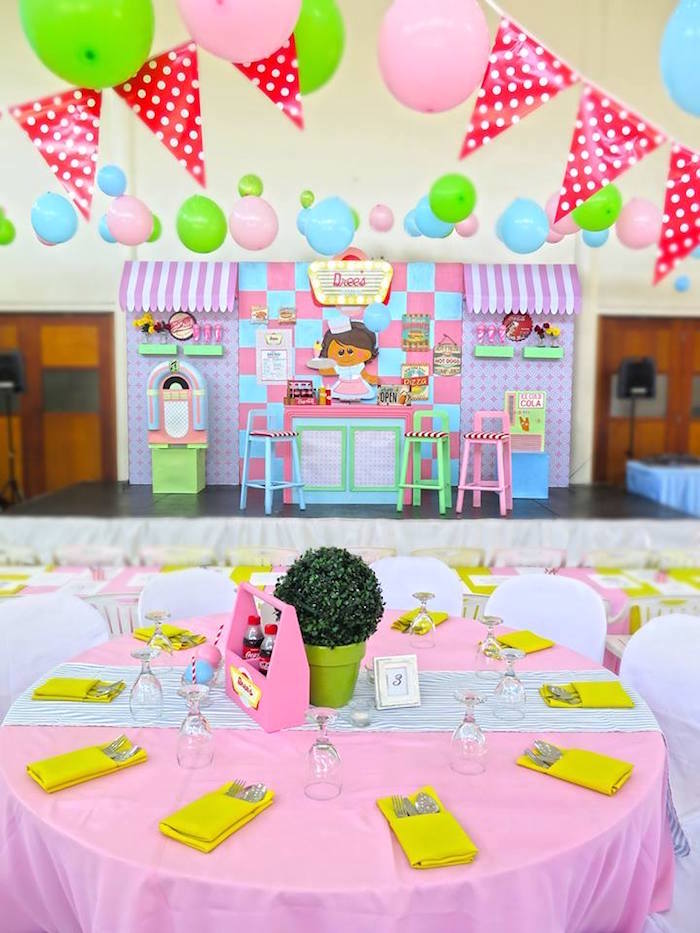 1950's American Diner Birthday Party on Kara's Party Ideas | KarasPartyIdeas.com (32)