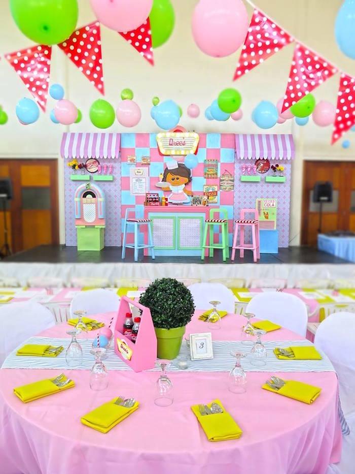 1950's American Diner Birthday Party on Kara's Party Ideas | KarasPartyIdeas.com (32)