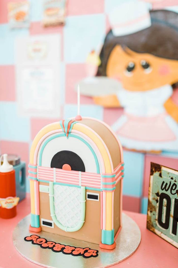 1950's American Diner Birthday Party on Kara's Party Ideas | KarasPartyIdeas.com (27)