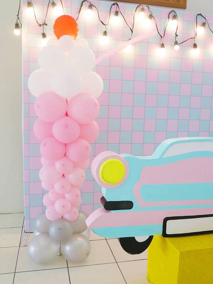1950's American Diner Birthday Party on Kara's Party Ideas | KarasPartyIdeas.com (25)