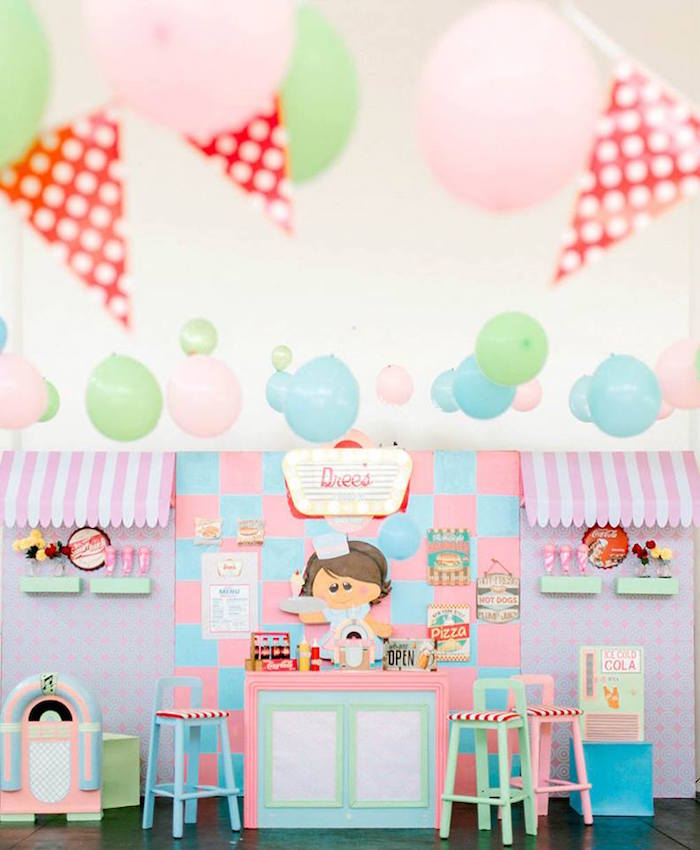 1950's American Diner Birthday Party on Kara's Party Ideas | KarasPartyIdeas.com (22)