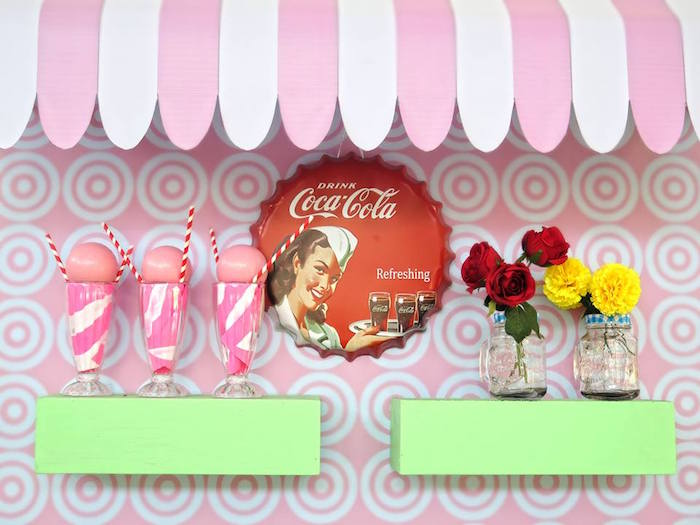 1950's American Diner Birthday Party on Kara's Party Ideas | KarasPartyIdeas.com (21)
