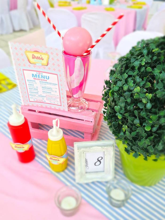 1950's American Diner Birthday Party on Kara's Party Ideas | KarasPartyIdeas.com (20)