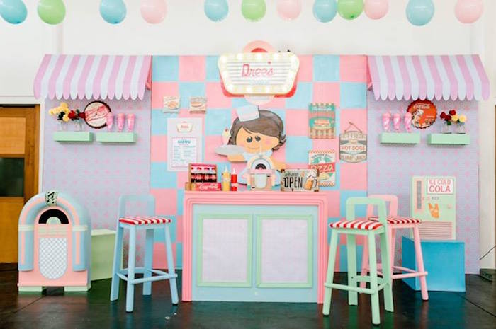 1950's American Diner Birthday Party on Kara's Party Ideas | KarasPartyIdeas.com (15)