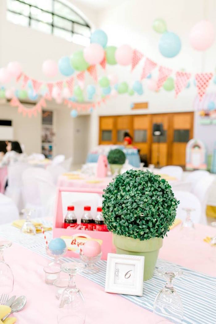 1950's American Diner Birthday Party on Kara's Party Ideas | KarasPartyIdeas.com (11)