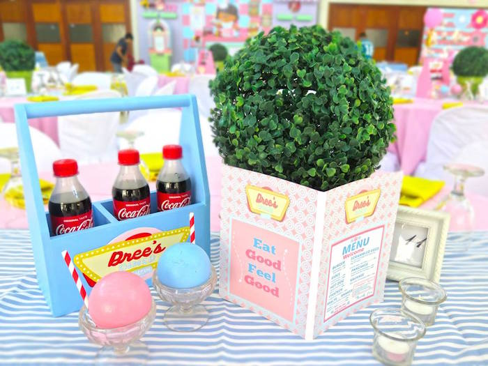 1950's American Diner Birthday Party on Kara's Party Ideas | KarasPartyIdeas.com (10)