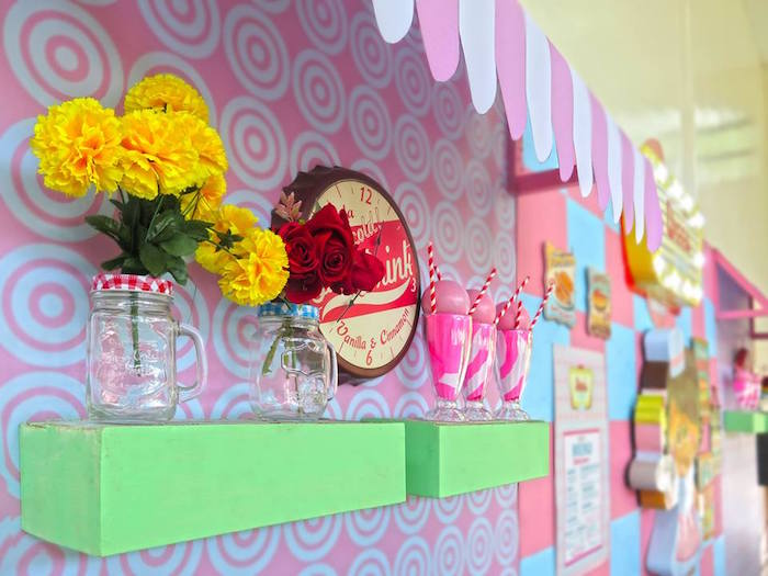 1950's American Diner Birthday Party on Kara's Party Ideas | KarasPartyIdeas.com (7)