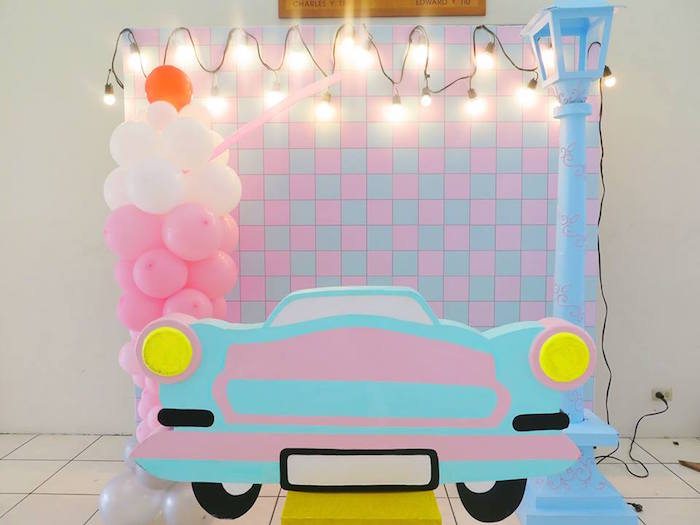 1950's American Diner Birthday Party on Kara's Party Ideas | KarasPartyIdeas.com (6)