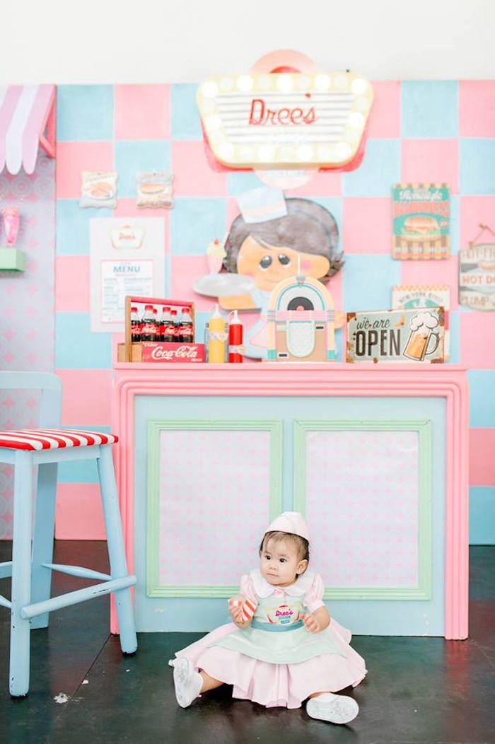 1950's American Diner Birthday Party on Kara's Party Ideas | KarasPartyIdeas.com (39)