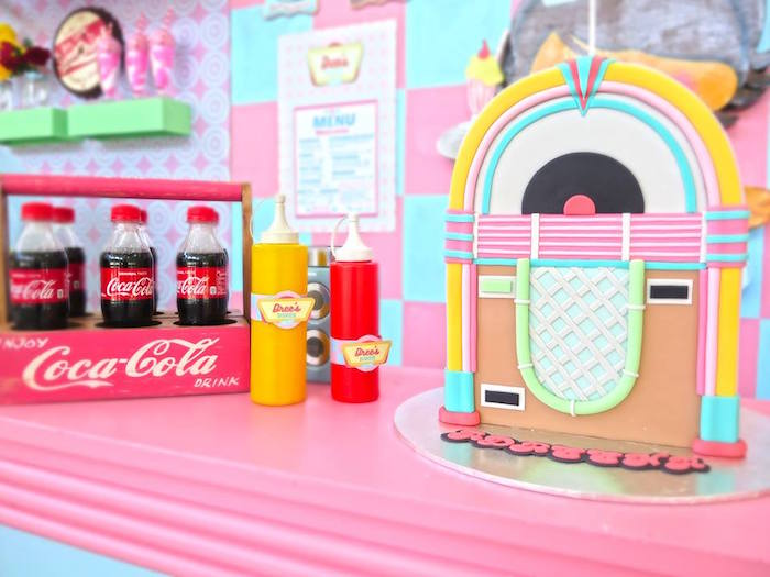 1950's American Diner Birthday Party on Kara's Party Ideas | KarasPartyIdeas.com (37)