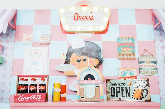 1950's American Diner Birthday Party on Kara's Party Ideas | KarasPartyIdeas.com (35)