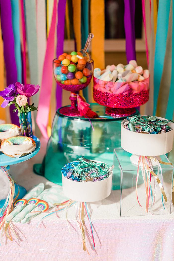 Kara S Party Ideas Quot Cloud Nine Quot Rainbow 9th Birthday Party