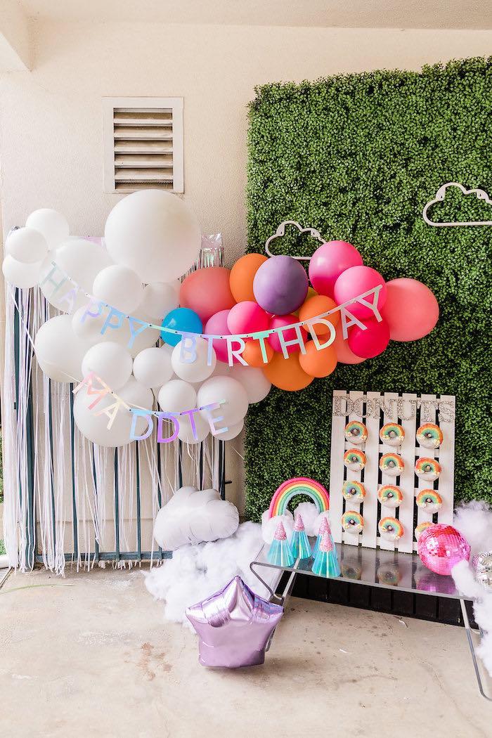 Cloud Nine Rainbow 9th Birthday Party