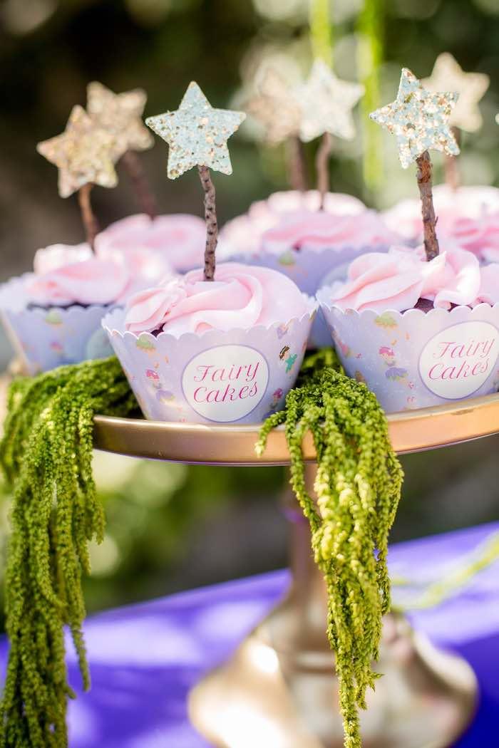 "Fairy Cupcakes from a ""Fairies Welcome"" Birthday Party on Kara's Party Ideas | KarasPartyIdeas.com (42)"