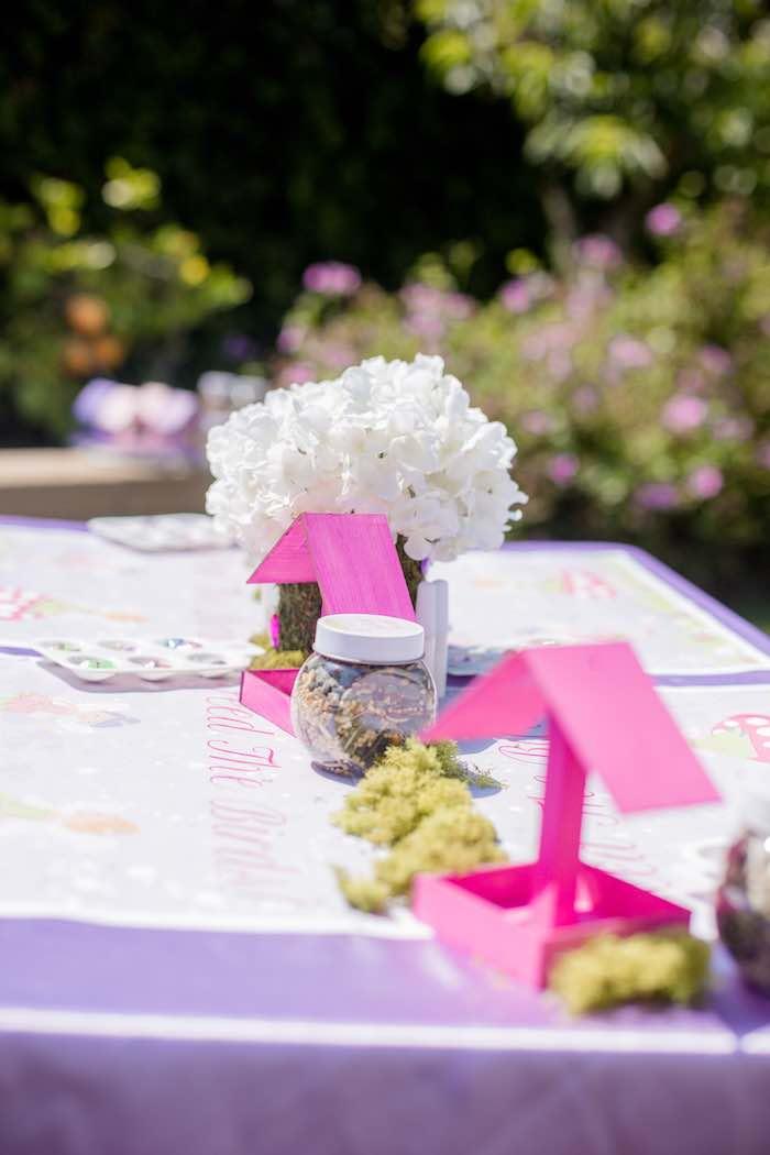 "Bird Feeder Activity Table from a ""Fairies Welcome"" Birthday Party on Kara's Party Ideas | KarasPartyIdeas.com (19)"
