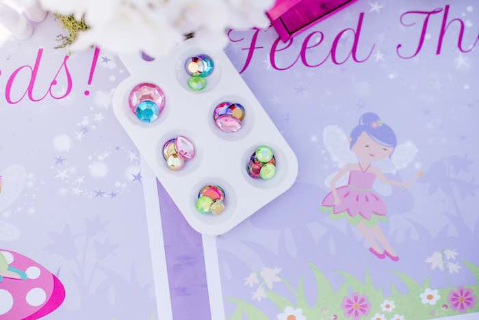 "Jewels from a ""Fairies Welcome"" Birthday Party on Kara's Party Ideas 