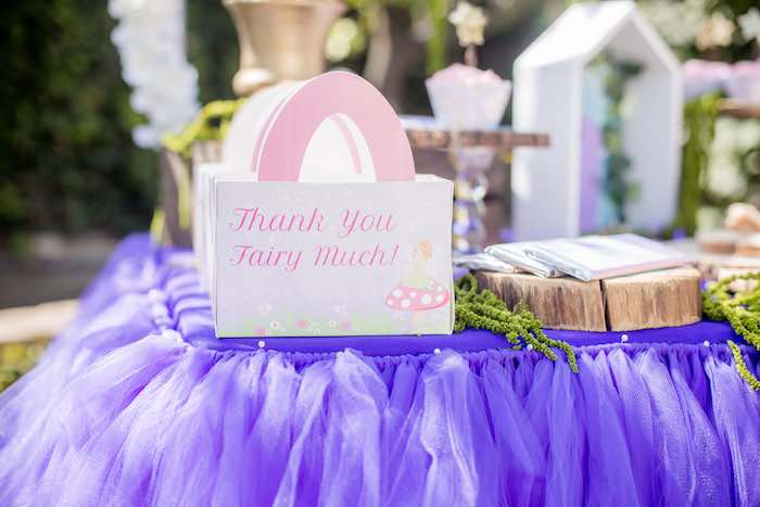 "Thank You Fairy Much Favor Box from a ""Fairies Welcome"" Birthday Party on Kara's Party Ideas 