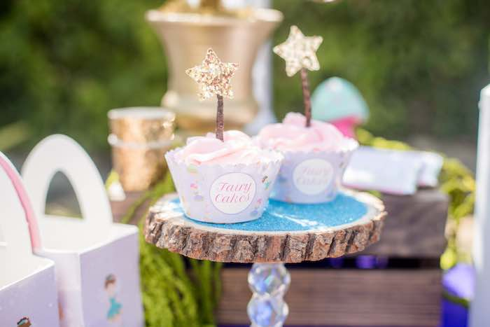 "Fairy Cupcakes from a ""Fairies Welcome"" Birthday Party on Kara's Party Ideas | KarasPartyIdeas.com (48)"