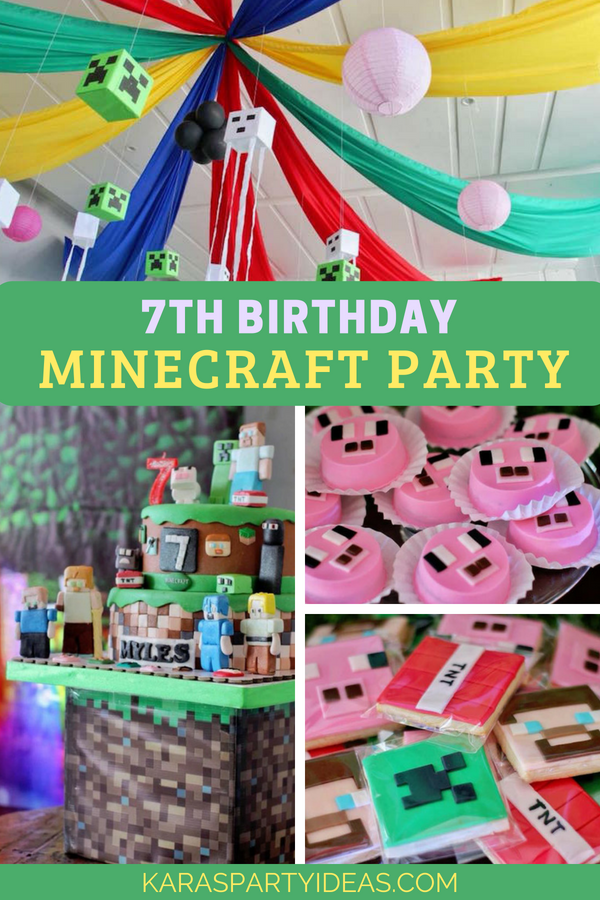 Kara S Party Ideas 7th Birthday Minecraft Party Kara S Party Ideas