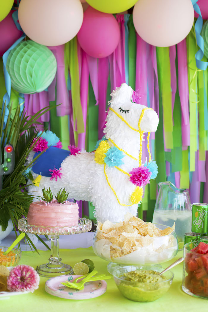 Alpaca Pinata from an Alpaca Birthday Fiesta on Kara's Party Ideas | KarasPartyIdeas.com (15)