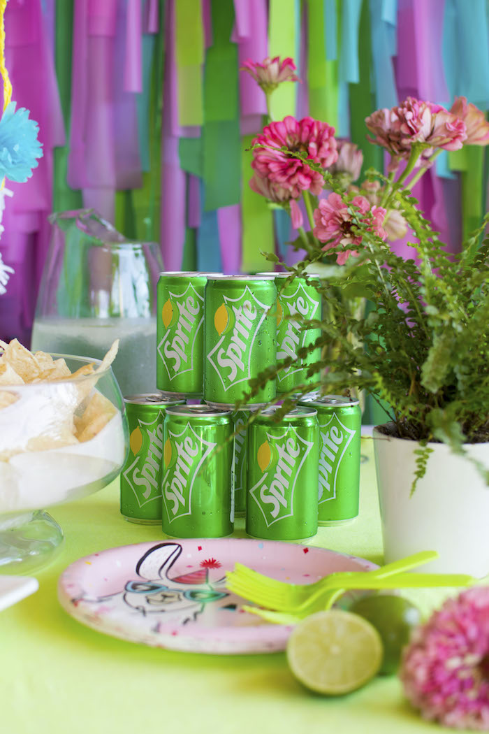 Sprite Can Stack from an Alpaca Birthday Fiesta on Kara's Party Ideas | KarasPartyIdeas.com (10)