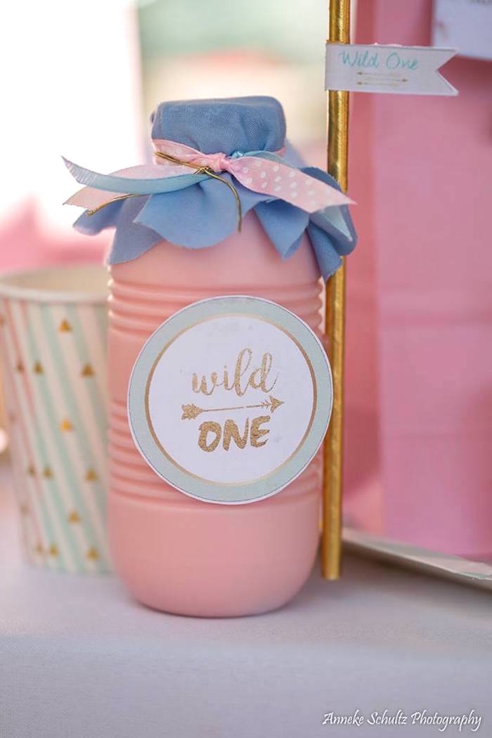 Wild One Drink Bottle from a Boho African Safari Birthday Party on Kara's Party Ideas | KarasPartyIdeas.com (21)