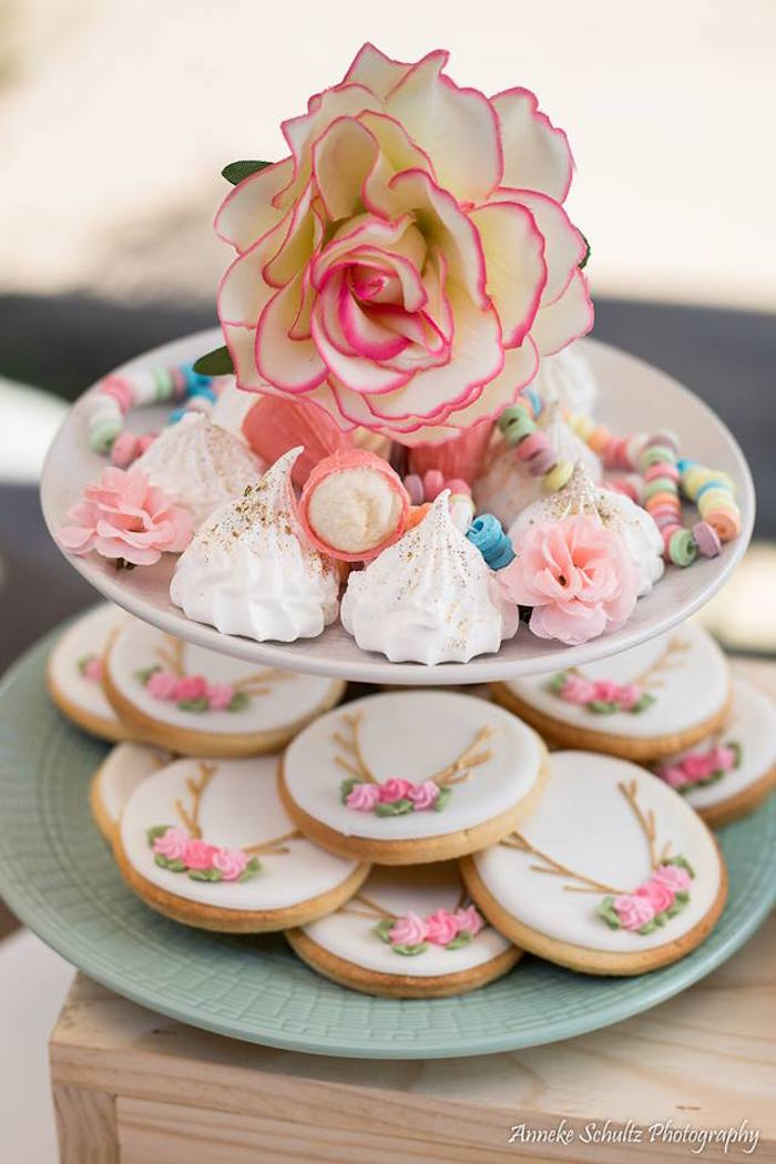 Boho Sweets on a Tiered Dessert Pedestal from a Boho African Safari Birthday Party on Kara's Party Ideas | KarasPartyIdeas.com (13)