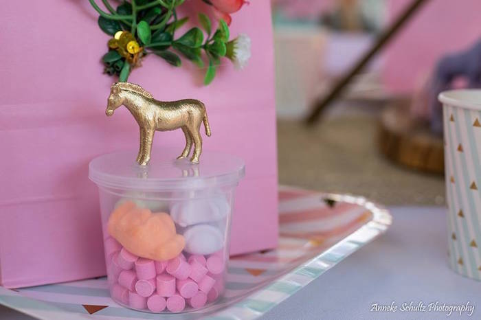 Glam-animal candy dish from a Boho African Safari Birthday Party on Kara's Party Ideas | KarasPartyIdeas.com (8)