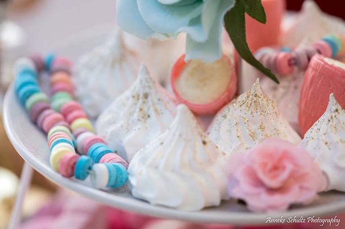 Glitter-dusted Meringues from a Boho African Safari Birthday Party on Kara's Party Ideas | KarasPartyIdeas.com (7)