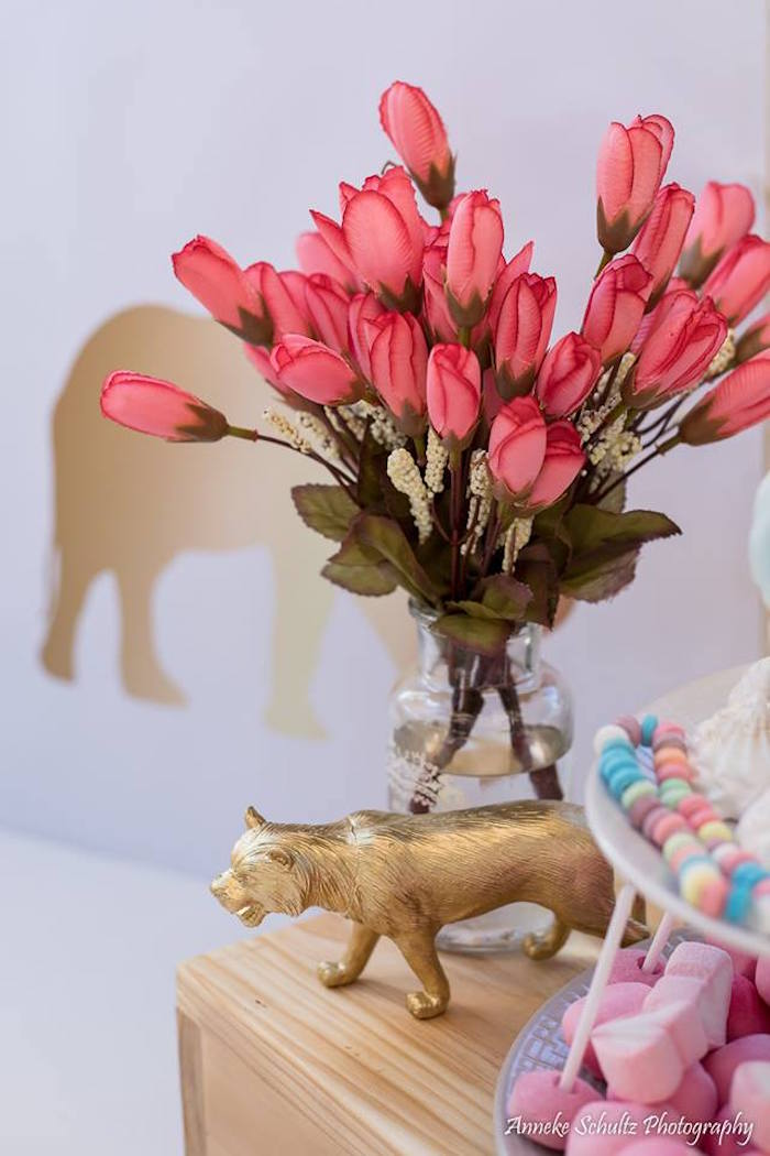 Blooms from a Boho African Safari Birthday Party on Kara's Party Ideas | KarasPartyIdeas.com (32)