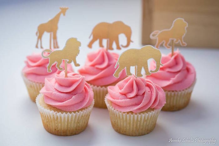Glam Safari Animal Cupcakes from a Boho African Safari Birthday Party on Kara's Party Ideas | KarasPartyIdeas.com (31)