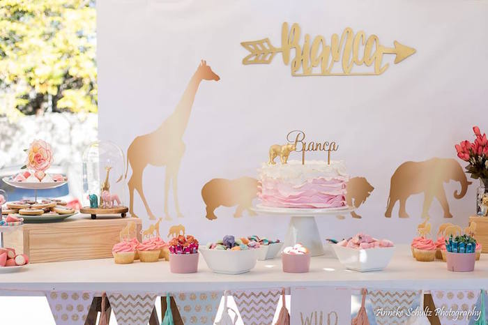 Girly Safari Guest Table from a Boho African Safari Birthday Party on Kara's Party Ideas | KarasPartyIdeas.com (27)