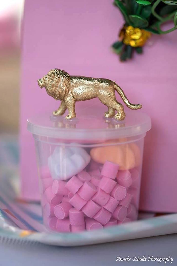 Safari Animal Candy Favor Dish from a Boho African Safari Birthday Party on Kara's Party Ideas | KarasPartyIdeas.com (25)