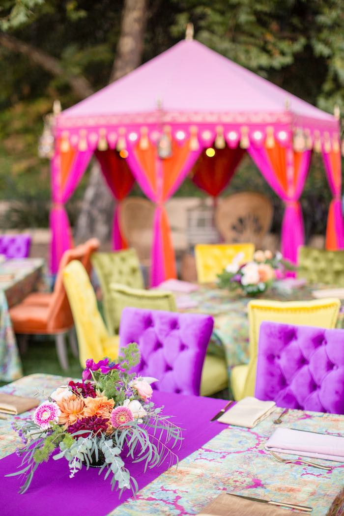 Bohemian Guest Table from a Boho Hippie Summer of Love Birthday Party on Kara's Party Ideas   KarasPartyIdeas.com (25)