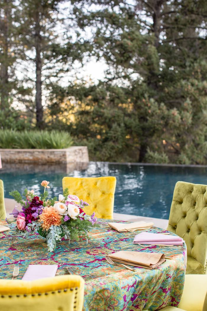 Bohemian Guest Table from a Boho Hippie Summer of Love Birthday Party on Kara's Party Ideas | KarasPartyIdeas.com (22)