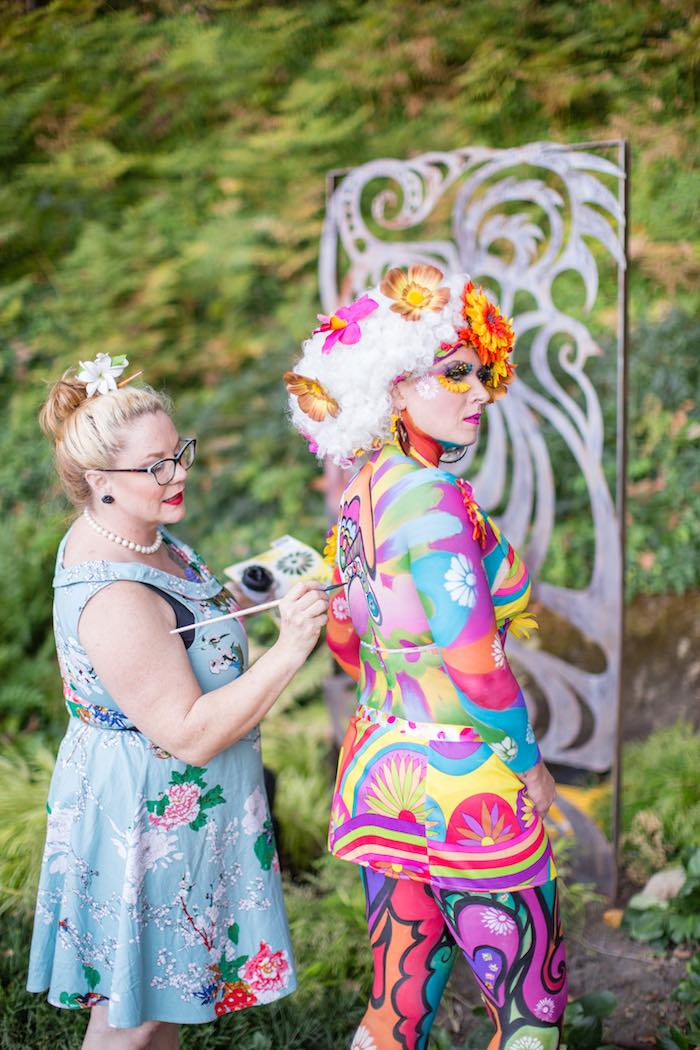 Body Painting from a Boho Hippie Summer of Love Birthday Party on Kara's Party Ideas | KarasPartyIdeas.com (20)
