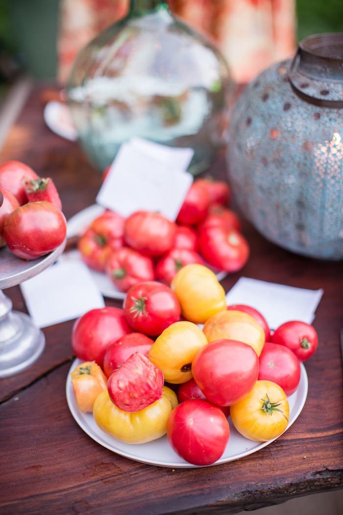 Tomato Platter from a Boho Hippie Summer of Love Birthday Party on Kara's Party Ideas   KarasPartyIdeas.com (17)