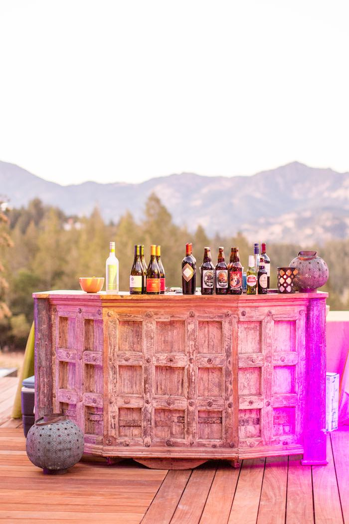 Boho Beverage Bar from a Boho Hippie Summer of Love Birthday Party on Kara's Party Ideas | KarasPartyIdeas.com (15)